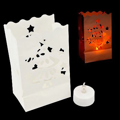 Candle Bag Carta Lanterna Led Batteria Sfarfallio Tè Luce Festa Albero Di Natale- Novel (In) Design;