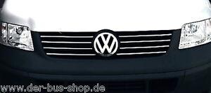 VW-Bus-T5-Chrom-Leisten-fuer-Kuehlergrill-Set-NEU