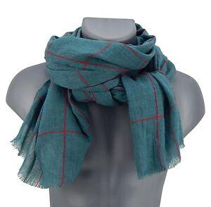 83fa96334846 écharpe pour hommes couleur pétrole vert-bleu rouge rayures par Ella ...