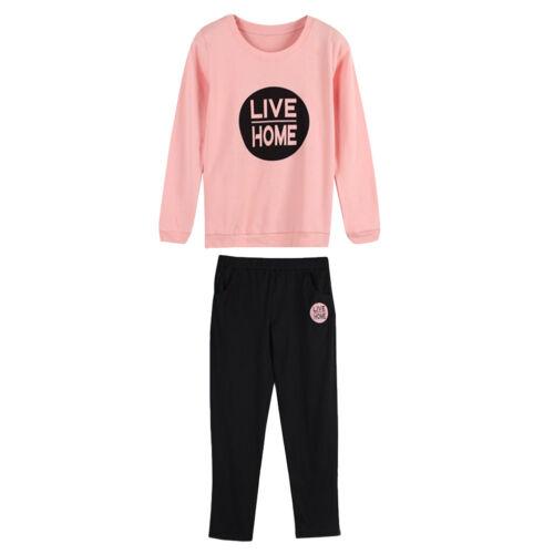 Women Pajamas Set Autumn Winter Long Sleeve Sleepwear Nightwear Clothes Suit US