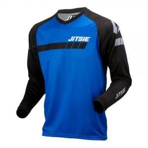 JITSIE-TRIZTAN-TRIALS-BIKE-RIDING-SHIRT-JERSEY-BLACK-BLUE-GREAT-QUALITY