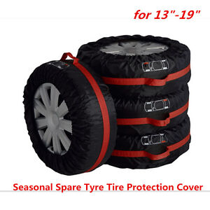 NEW-Set-of-4-Tire-Storage-Cover-Tyre-Wheel-Carry-Bag-Tote-Spare-Wheel-Protection