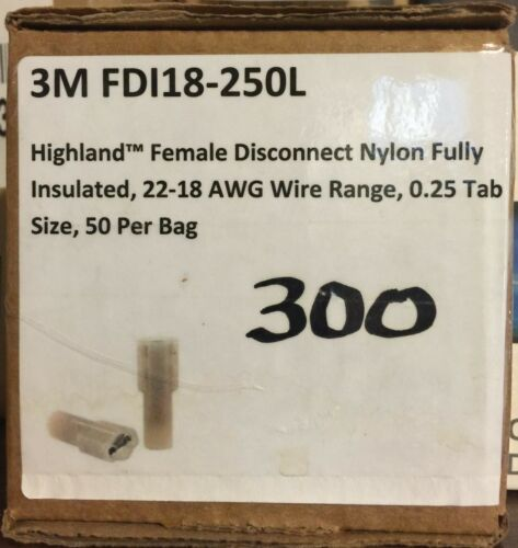 Highland Disconnect 3M FDI18-250L Female Nylon fully insullated 22-18 AWG Wire