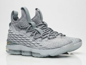 24f6909864d Image is loading Nike-LeBron-15-XV-Wolf-Grey-Gold-Size-