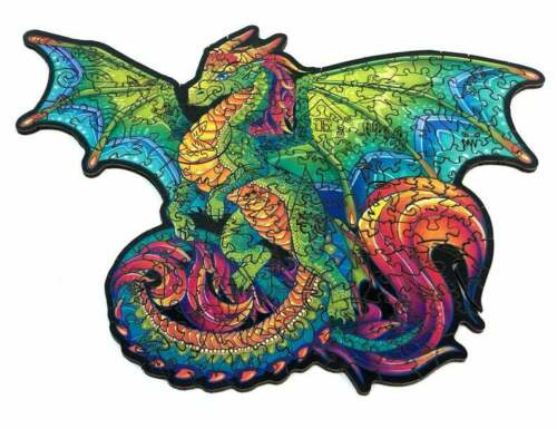 Rainbow Dragon Wooden Puzzle Jigsaw Animal Mosaic Puzzle Gift For Holiday