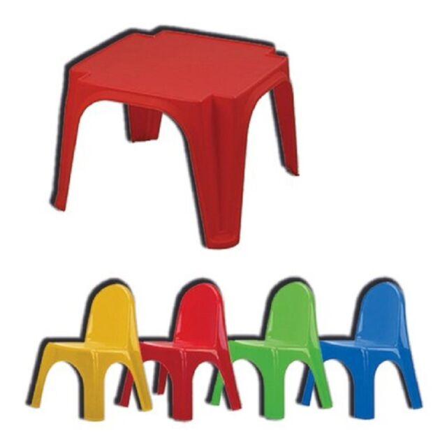 Tavolo In Plastica Con Sedie.Biemme Tavolo Da Giardino Con Sedie Tavolino Bambini Colori