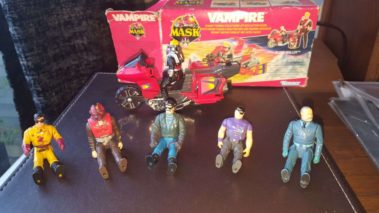 KENNER M.A.S.K. MASK VAMPIRE with FLOYD MALLOY + VANDAL 100% COMPLETE SET 1986