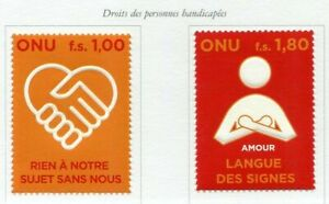 19750-UNITED-NATIONS-Geneve-2008-MNH-Nuovi-Right-for-disabled-2v