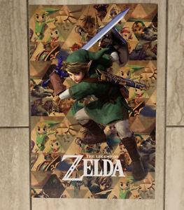 Zelda 35th Anniversary Poster Gamestop Exclusive 2021 NEW 11x17