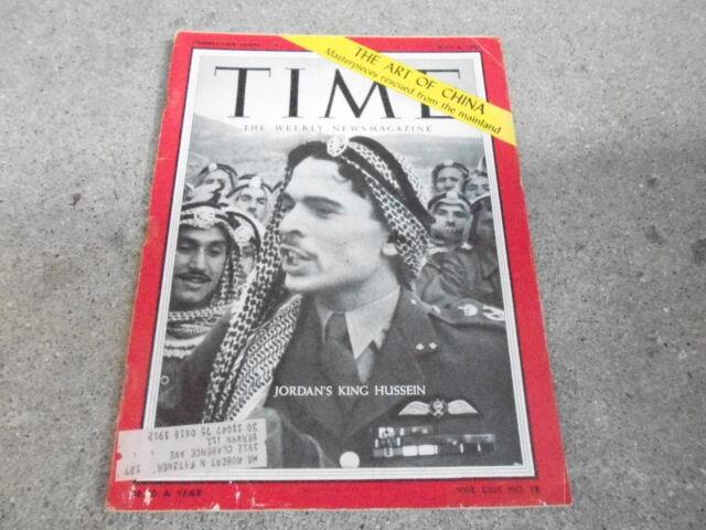 MAY 6 1957 TIME vintage news magazine JORDAN KING HUSSEIN