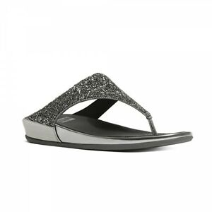 53cbeec30 Image is loading FitFlop-BANDA-CRYSTAL-Ladies-Toe-Post-Crystal-Sparkly-