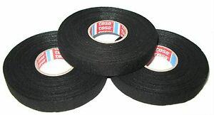 3x-TESA-kfz-Gewebeband-mit-Vlies-51608-15mm-x-25m-Adhesive-Klebeband-MwSt-neu