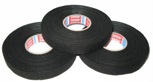 3x TESA kfz Gewebeband mit Vlies 51608 15mm x 25m Textilband Klebeband Tape MwSt