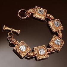 New Les Bijoux Rose Scalloped Filigree Bracelet