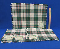 Set 4 Placemats Christmas Fabric Red Green White Gold Plaid 13 X 19 Cotton