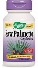 Saw Palmetto Standardized - 60 Softgels - Nature's Way FAST SHIPPING