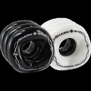 Skateboard Wheel 60mm 78a Shark Wheel California Roll Clear Black Hub
