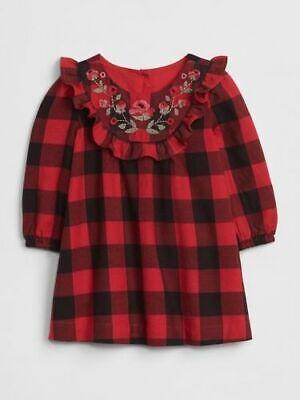 0 3 6 12 18 24 M Baby Gap Red Black Flannel Buffalo Plaid