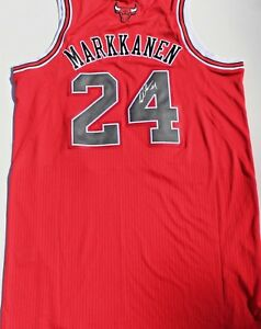 more photos d66f3 61825 Details about Lauri Markkanen Signed Chicago Bulls Authentic XL Basketball  Jersey w/COA