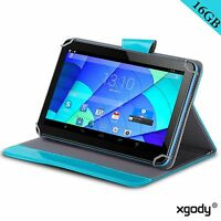 "XGODY 9"" Inch Tablet PC Bundled Free Case Android 4.4 Quad Core 16GB Dual Camera"