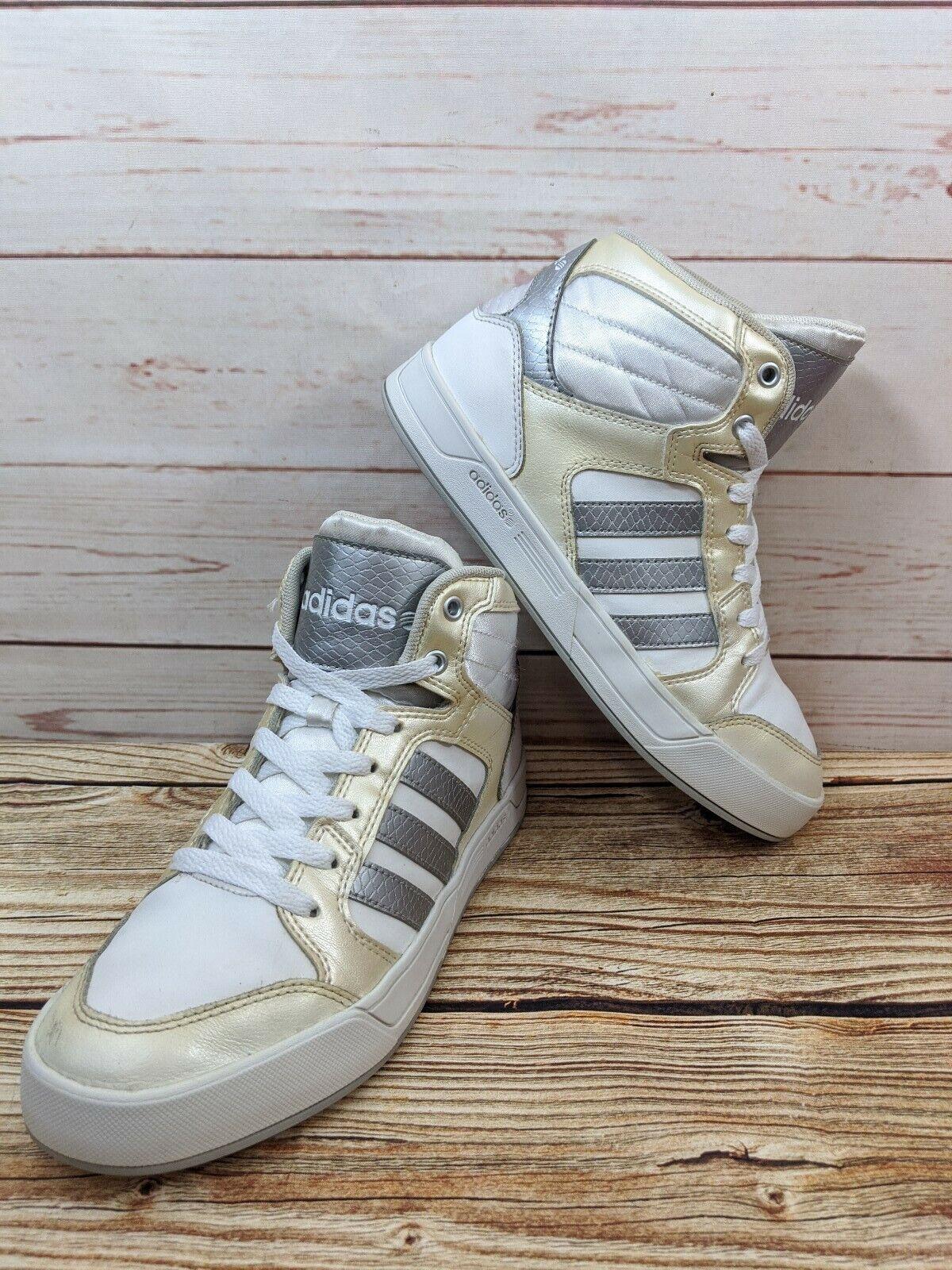 seguramente cache girasol  adidas Womens Shoe Size 10 US Neo Label High Top White Cream F98975 for  sale online | eBay