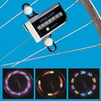 Fahrrad Rad Reifen 14 Led Speiche Felgen Flash Licht Reflektor Lampe 30-muster