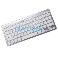 O22 Bluetooth BT Keyboard drahtlose Tastatur silber für Smartphone Tablet PC