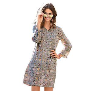 Robe-manches-3-4-imprime-fleuri-femme-140405