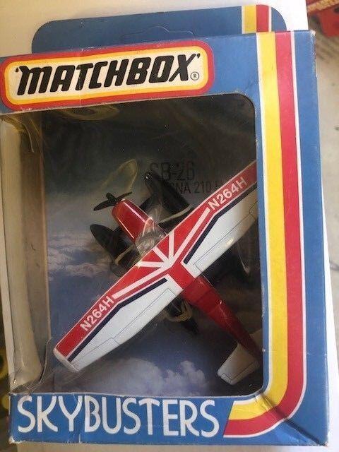 Matchbox Sky-Buster SB-26 SB-26 SB-26 Cessna 210 Flotador Llano 1981 09a84b