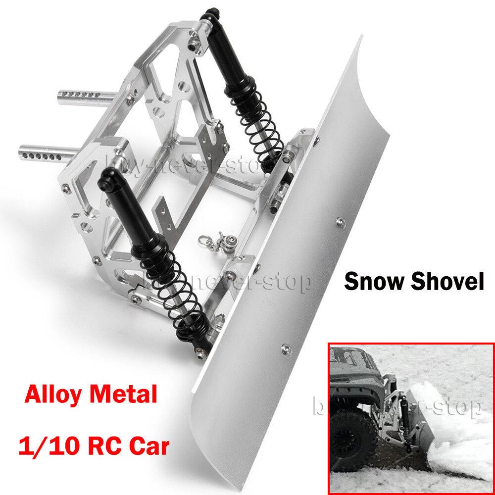 Alloy Metal Snow Shovel Plow Blade for Axial SCX10 SCX10ll Traxxas TRX4 1 10 RC