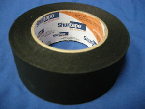 NEW-SHURTAPE-P-743-BLACK-PHOTOGRAPHIC-MASKING-TAPE-2-034-x-60YDS-MADE-IN-USA