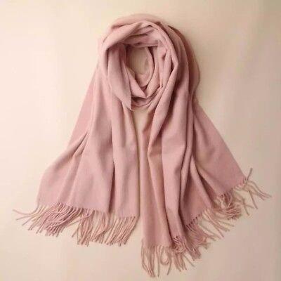 100% Puro Cashmere Pianura Sciarpa Scialle 71x200cm (rosa) Elegante- In Viaggio