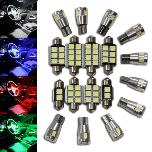 blue red white green Ultimative LED Interior complete Lights Kit Set Seat