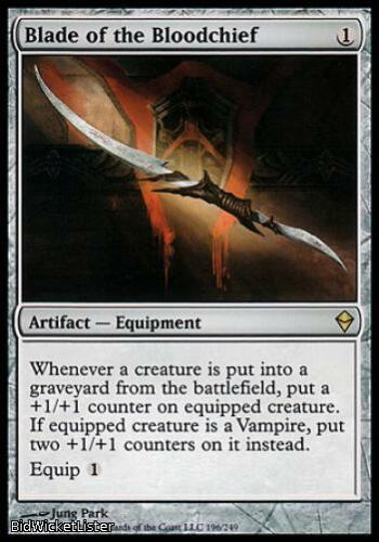 Near Mint Normal English Blade of the Bloodchief Magic the Gathering Rare