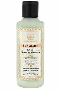 Khadi Natural Herbal Hair Cleanser/Shampoo, Neem and Aloevera, 210ml F.S
