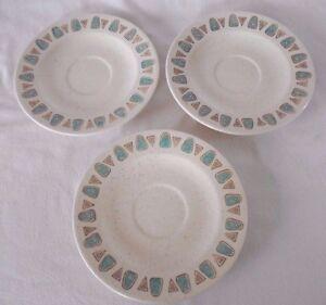 Lot-3-Metlox-Poppytrail-Navajo-Saucer-Plate-MidCentury-Modern-California-Pottery