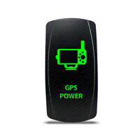Rocker Switch Gps Power Symbol - Green Led