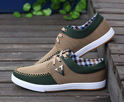 Men's Summer England Fashion V Style Breathable Flat Casual Shoes Lace Shoes