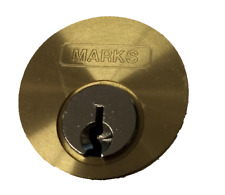 """Marks Metro #21613 Solid 1-1//8/"""" Mortise Cylinder Lock and Two Keys"""