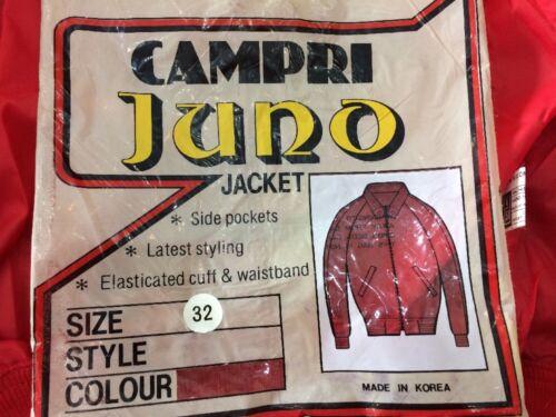 """Vintage homme bomber veste campri juno new old stock 32/"""" 34/"""" small"""
