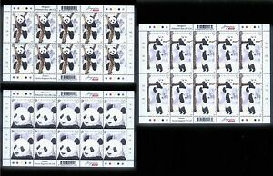 Mint-Singapore-Full-Sheet-complete-Sets-Stamps-of-2012-Giant-Pandas