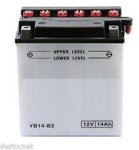 Batterie moto Scooter YB14-B2 Pour Honda XRV 650 AFRICA TWIN RD03 , 1988 - 1989