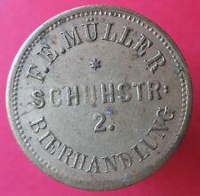 Old Rare Deutsche -F.E. Muller Schuhstr.2 Bierhandlung UNLISTED -mehr am ebay.pl