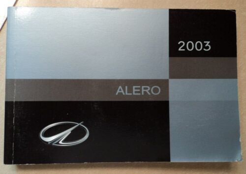 03 2003 Oldsmobile Alero owners manual