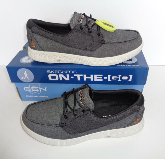 38628f11 Skechers Mens On the GO Glide Coastline Lace New Trainers Boat Shoes Sizes  6-12
