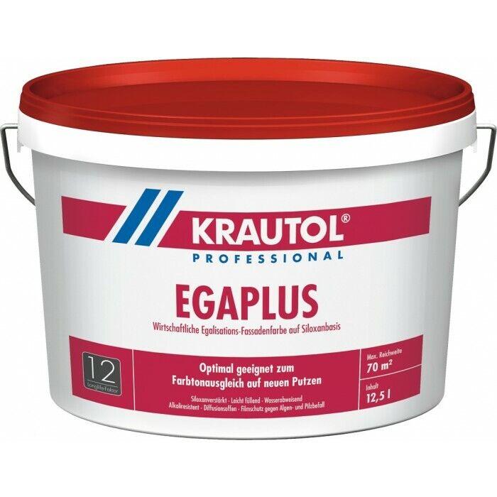 KRAUTOL EGA PLUS Egalisations-Fassadenfarbe auf Siloxanbasis weiß  5L o. 12,5L