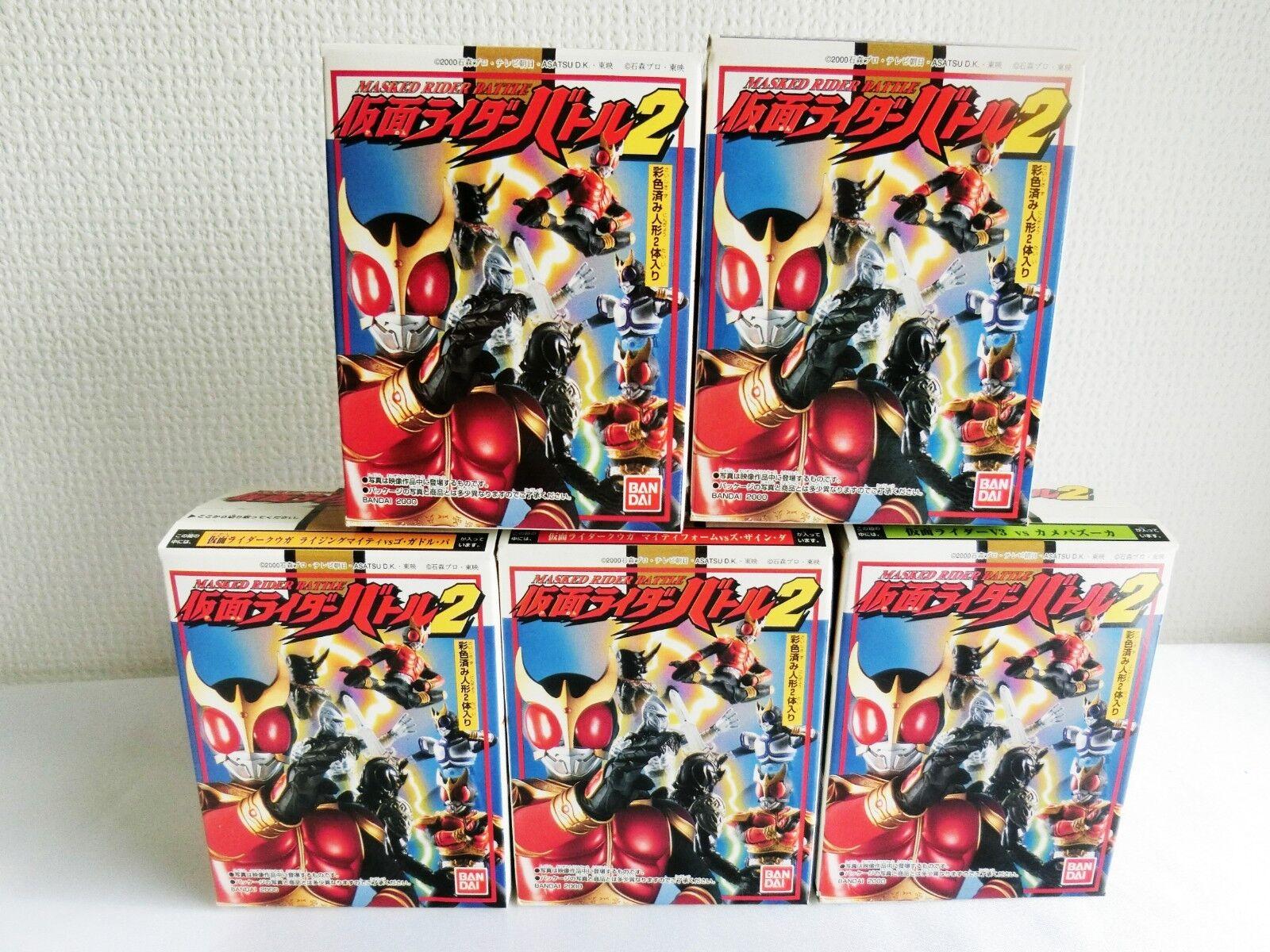 BANDAI 2000 Masked Rider Battle 2 Kamen Rider V3 Kuga All 5 Complete set Japan