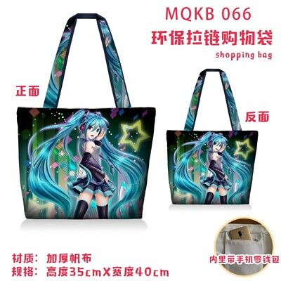 VOCALOID Hatsune Miku Anime Schoolbag Canvas Shoulder Bags Fashion Handbag QWE2