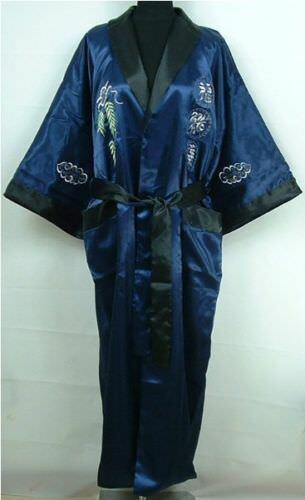 Double-Face Men/'s Silk Satin Men Kimono Robe Gown Bathrobe Dress Pajamas Chinese