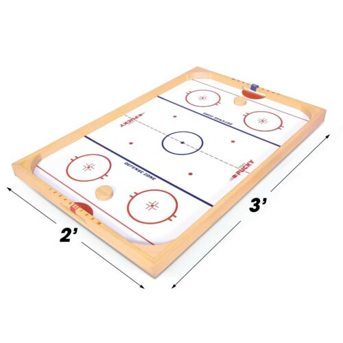 GoSports Ice Pucky Wooden Table Top Mini Hockey Game for Kids /& Adults